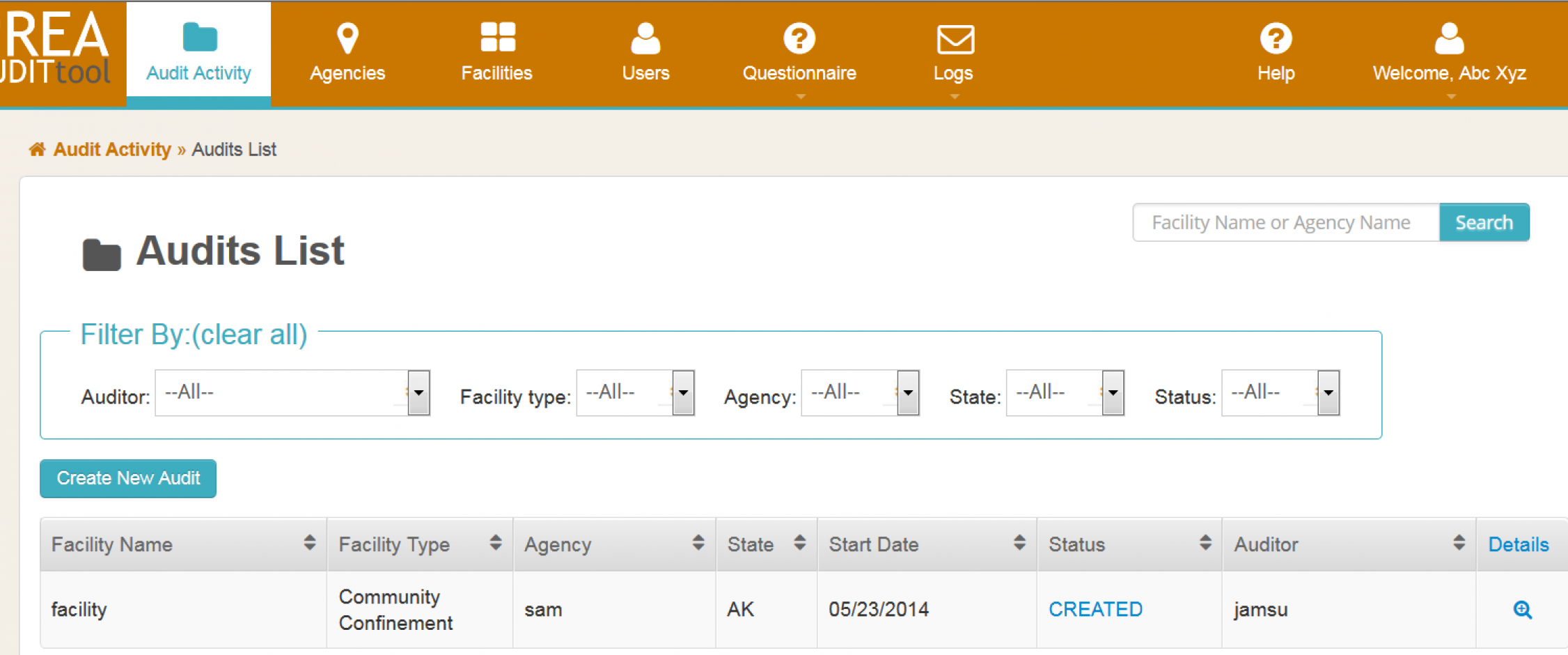 Audit and Compliance Web Application for Correctional Facilities